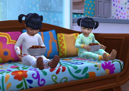 Lori (without hat) and Aya enjoying a meal